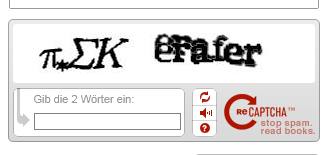 A screenshot of a Captcha with mathematical symbols